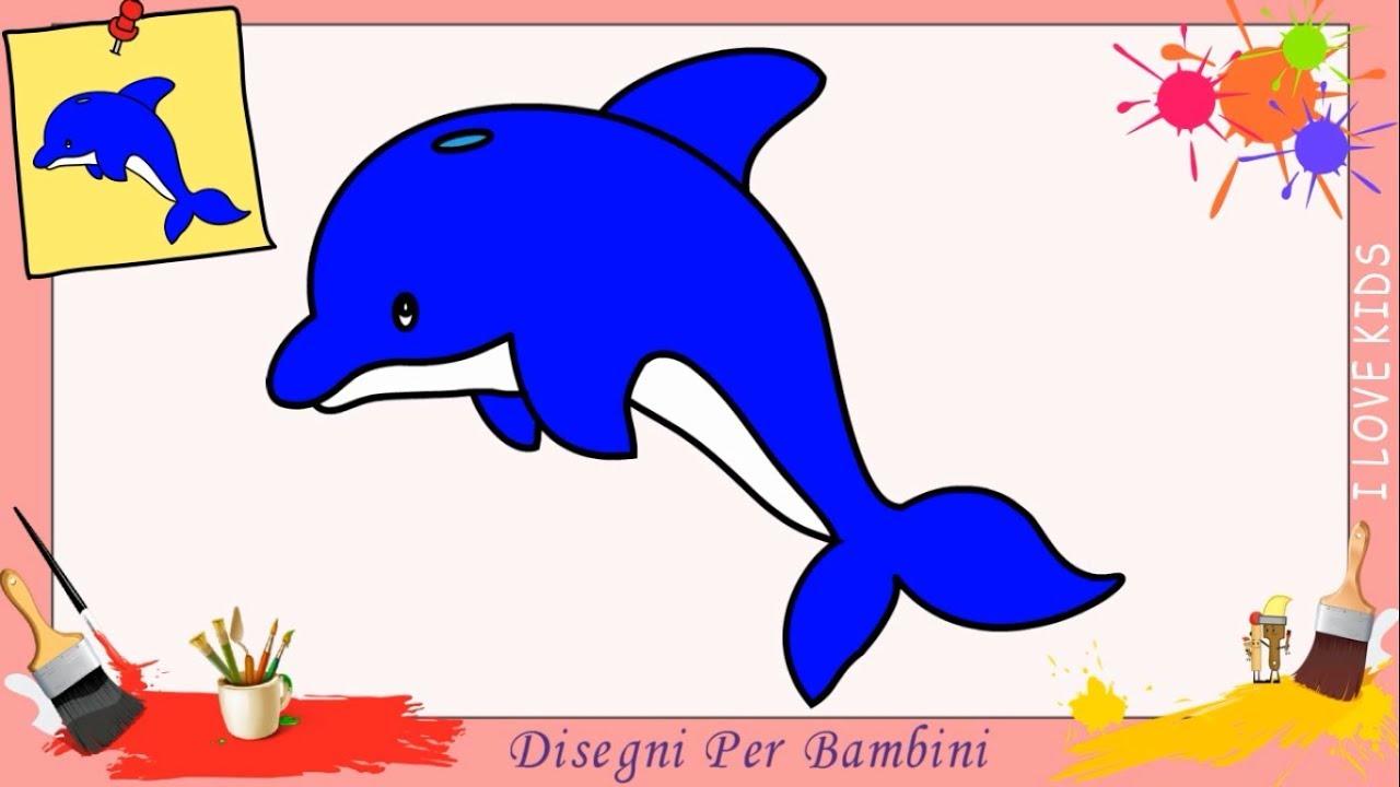 Disegni di delfini facili per bambini come disegnare un for Disegni di natale facili per bambini