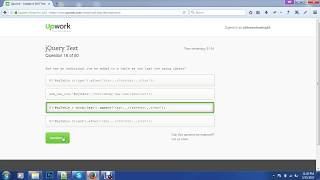Upwork JQuery test top20% Test answer 2017