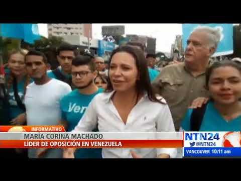 María Corina Machado hace presencia en las marchas de este #23E