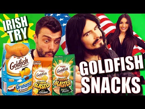 Irish People Try American GOLDFISH SNACK CRACKERS!!
