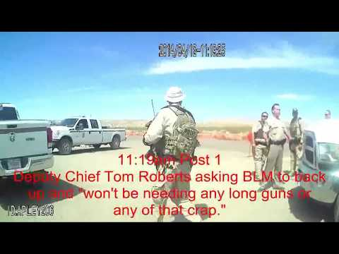 Leaked Video & Body/Dash Cam Footage CIA, FBI BLM Tyranny & Aggression - Bundy Ranch