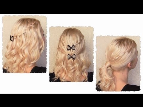 Waterfall Braid Hairstyles With Curls for Long Hair
