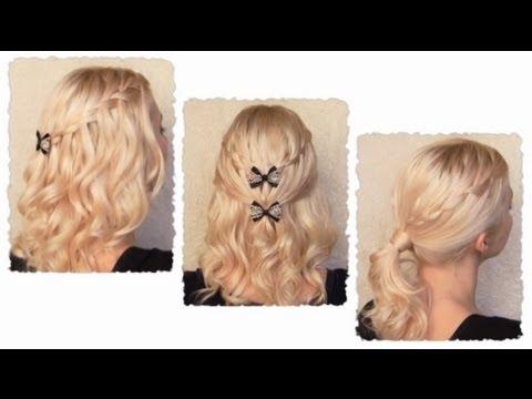 waterfall-braid-hairstyles-with-curls-for-long-hair-flechtfrisur-mit-locken-für-lange-haare