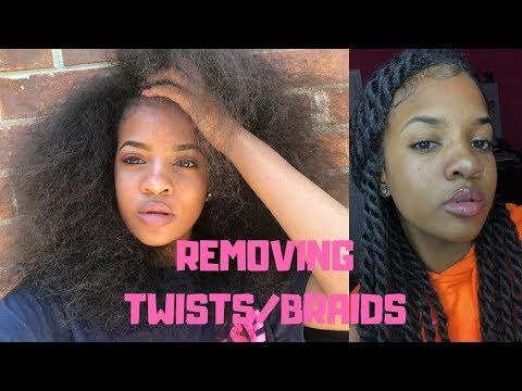 REMOVING HAVANA TWIST 🦁| Minimum Hair Loss!