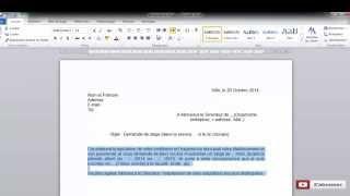 Comment rédiger une demande de stage simple et rapide.
