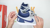 sale retailer 8aba1 00776 Nike Recreation Mid blanco - YouTube