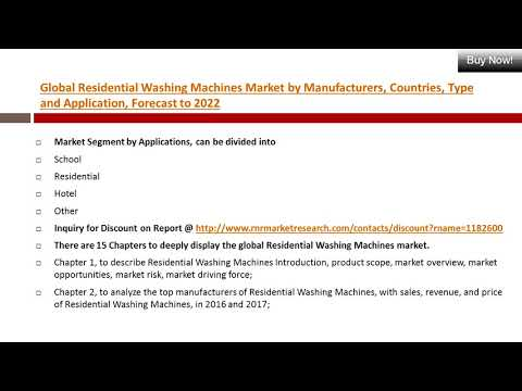 Global Residential Washing Machines Market Size & Forecast and Opportunities, 2017