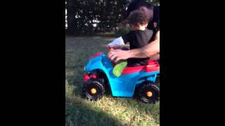 Liam's first ride