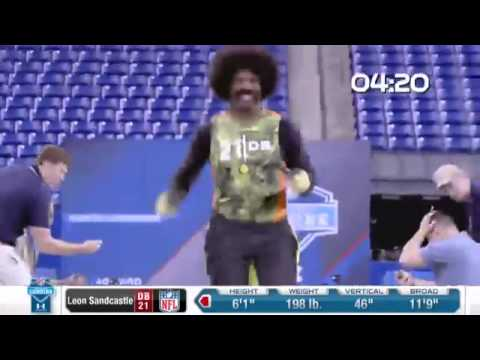 Leon Sandcastle Runs The 40-yard Dash- Deion Sanders