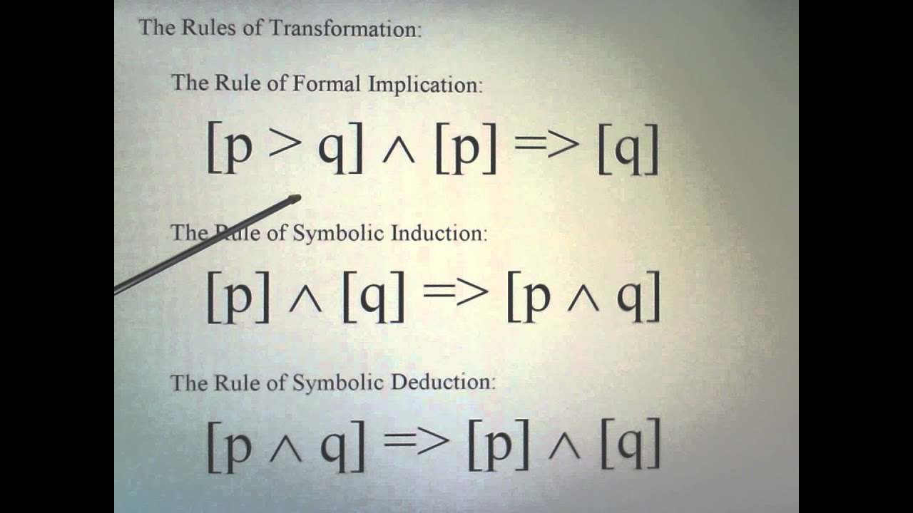 an introduction to the formal or symbolic logic Course overview this course is an introduction to formal logic: using formal (symbolic) analysis and other formal methods to determine what logically follows from what.