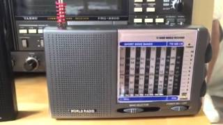 Tesco RAD-108 cheapest short-wave receiver in the UK? (£8!) Test #1