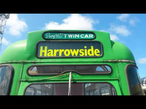 Blackpool Transport Progress Twin Car Tram Destination Blind