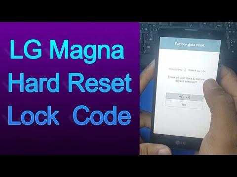 LG Magna H502 Hard Reset Remove Lock Code 2017