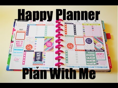 Plan With Me - MAMBI Watercolor Happy Planner
