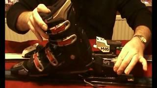 Adjusting ski bindings for different boots.wmv