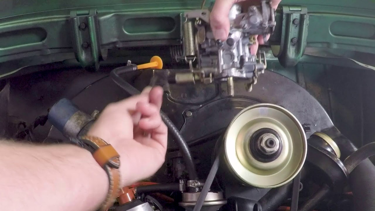 vw bug how to carb install h30 31 [ 1280 x 720 Pixel ]