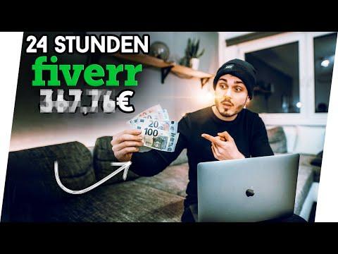 💰 Ich Versuche 24h Auf FIVERR Zu Arbeiten UND ___€ Von ZUHAUSE Zu Verdienen...