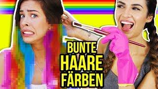 OMG! SIE FÄRBT MEINE HAARE HEIMLICH BUNT! 🌈😨 | UMSTYLING mit Kim Lianne & KindofRosy