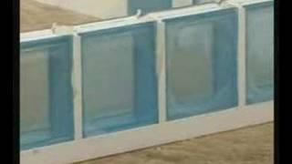 Montaż pustaków szklanych ClaroGlass w systemie LUX-PROF