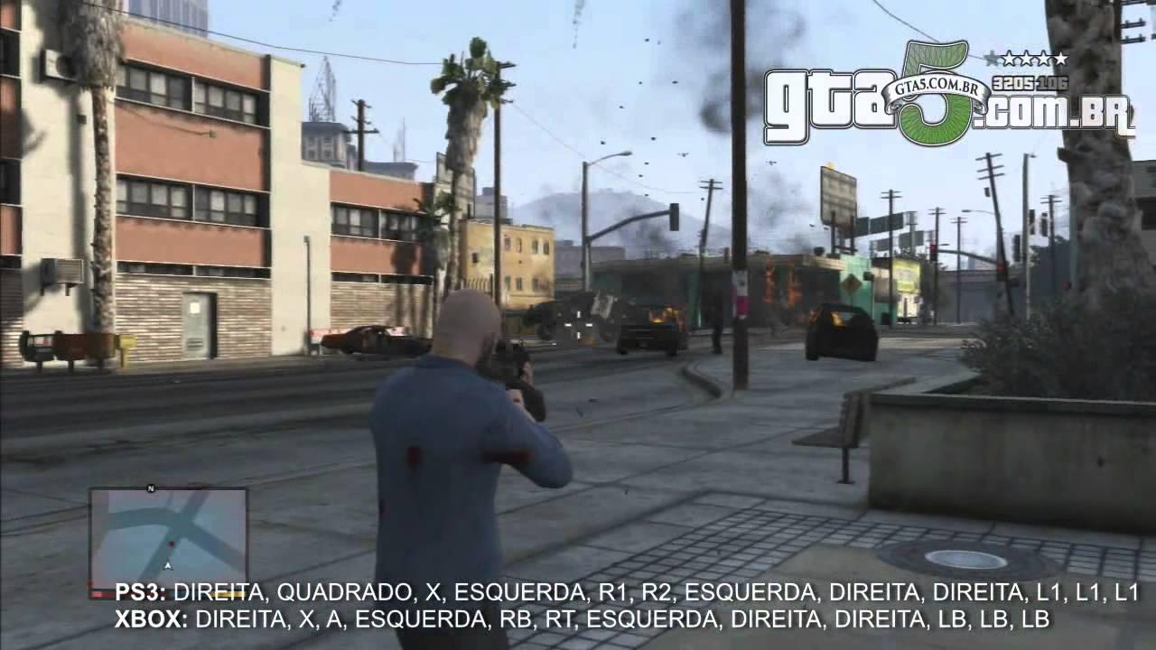 Código Cheat Bang Bang de balas explosivas no GTA V - YouTube