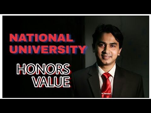 National University Honors value
