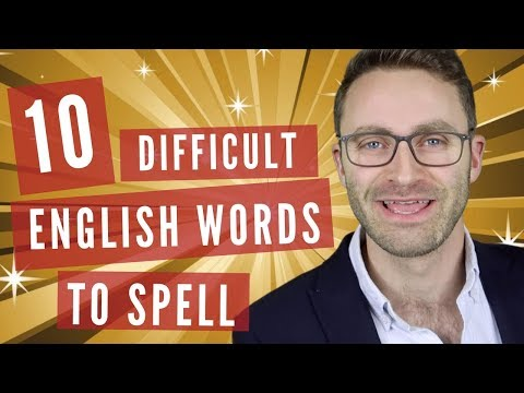 10 Difficult English Words To Spell | SPELLING BEE PARODY