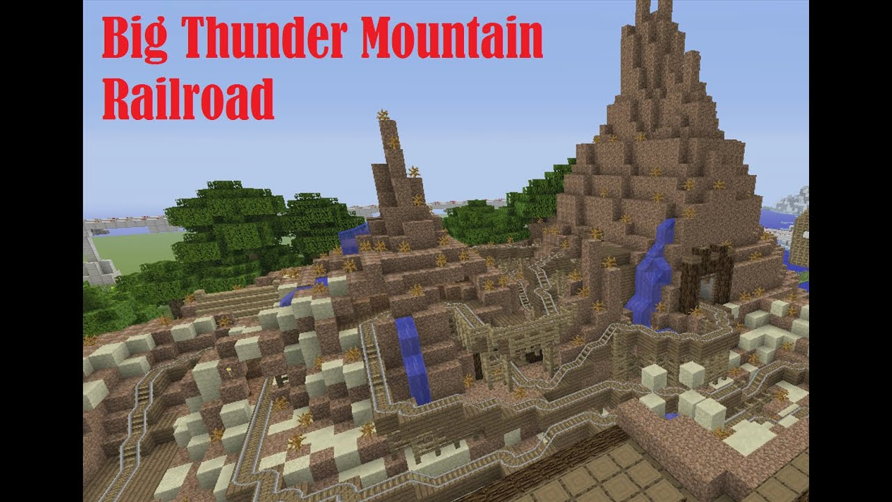 Big Thunder Mountain Railroad Minecraft Roller Coaster