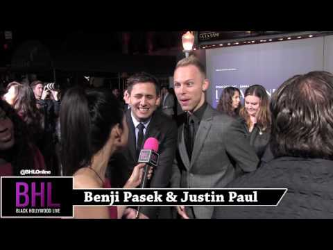 Benji Pasek & Justin Paul Interview   La La Land Premiere