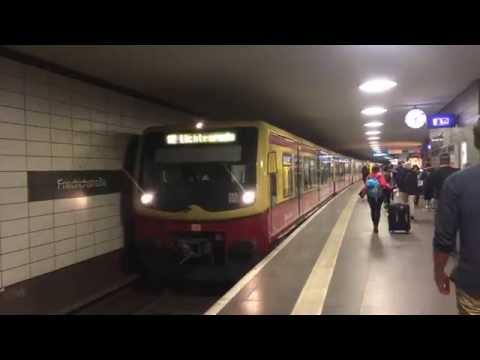 【ドイツ】 ベルリンSバーン フリードリヒシュトラーセ駅 S-Bahn Berlin Friedrichstraße Station, Germany (2014.4)