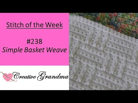 Stitch Of The Week  #238  Simple Basket Weave Stitch