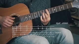 How To Play DGAF   Shiloh   Guitar Tabs