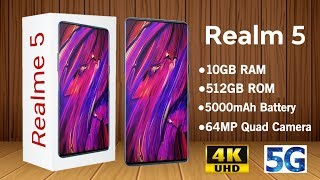 Realme 5 -5G,64MP Camera,10GB RAM,Specs,Feature,Price,Launch/Realme 5(Realme 5)