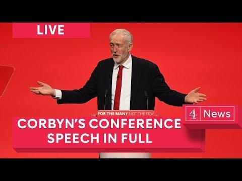 Jeremy Corbyn Labour conference speech in full (2017)
