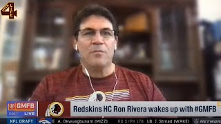 Ron Rivera Wakes Up With Gmfb   Redskins