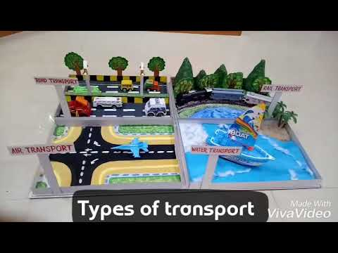 Types of transport school project made at home by Ravindra Kashyap