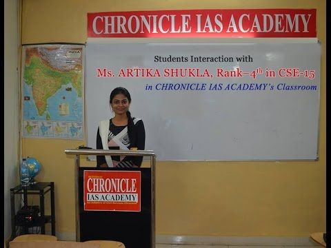 How to Prepare for Civil Services Exam by Ms. ARTIKA SHUKLA, Rank-4th In CSE-2015.