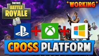 FORTNITE CROSS PLATFORM -XBOX, PS4, PC (How To Play Fortnite Battle Royale Cross Platform)