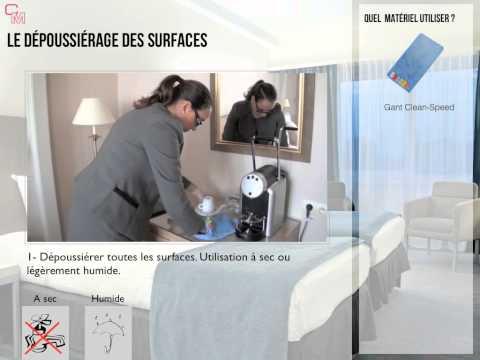 Nettoyage D'une Chambre   - Hôtel 4 étoiles