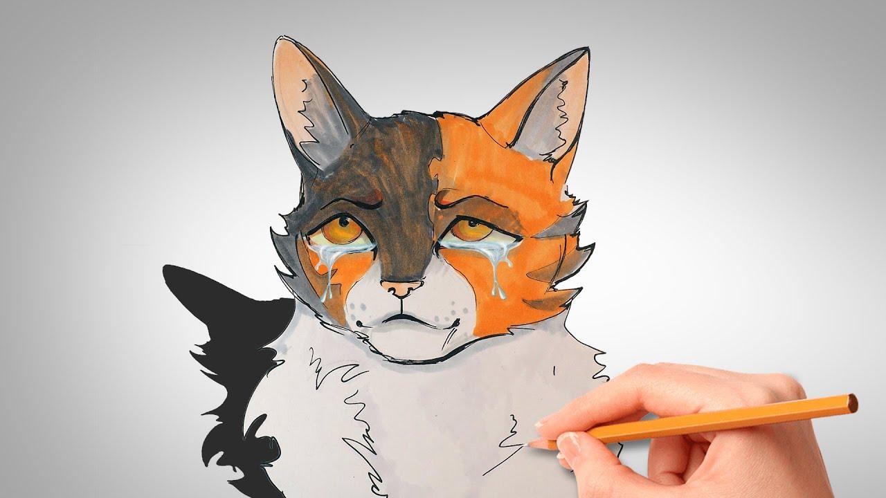 Как нарисовать Кленовницу | КОТЫ ВОИТЕЛИ