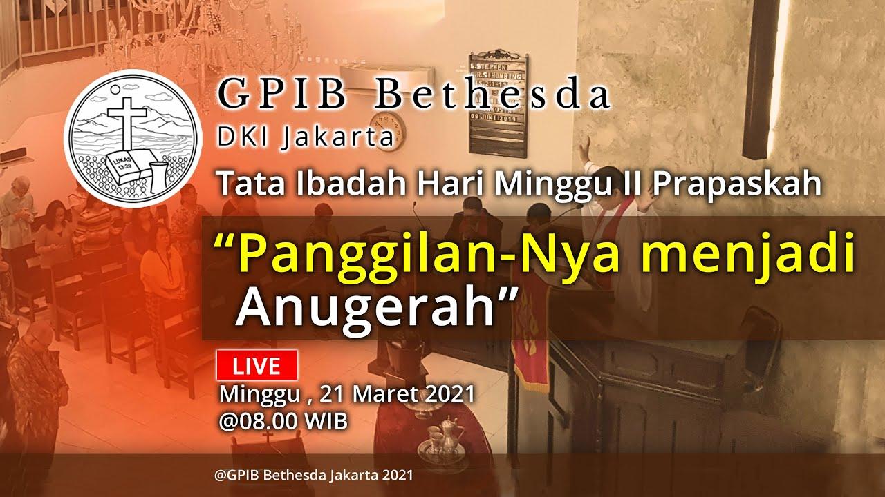Ibadah Hari Minggu II Prapaskah (21 Maret 2021)
