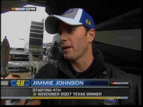 Jimmie Johnson Rain Delay Interview Texas 2010.mpg