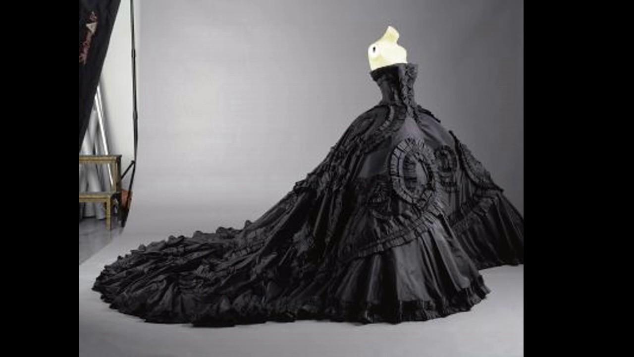 Vestido de novia negro sueno