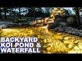 Backyard Koi Pond & Waterfall