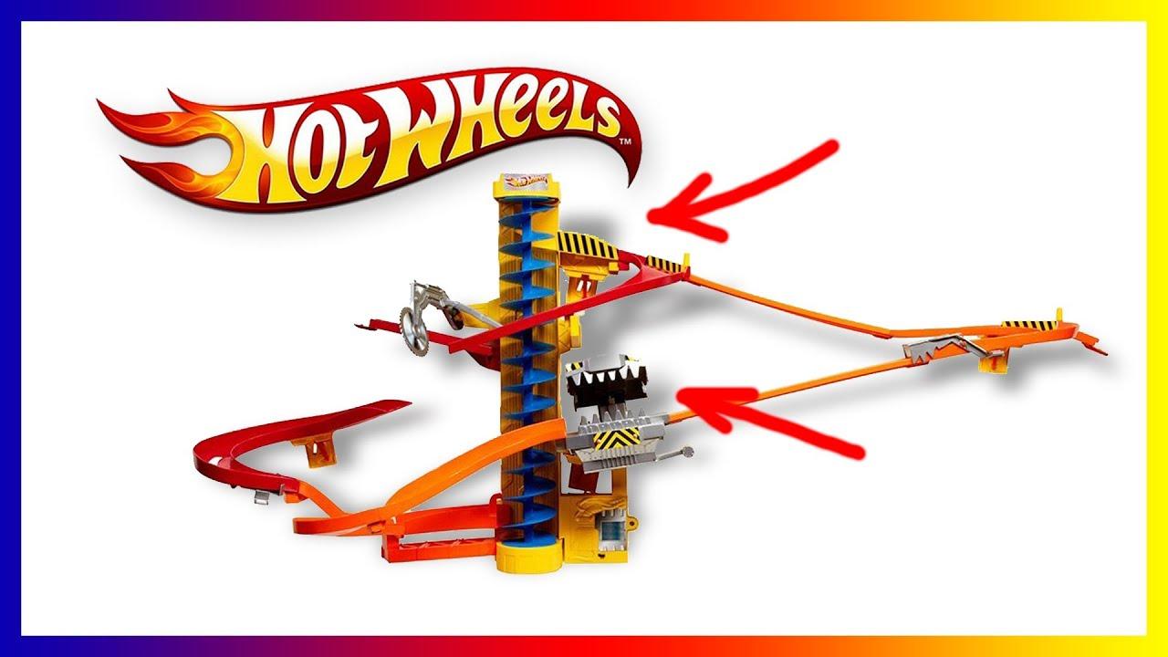 ХотВилс гараж с трассами и машинками распаковка игрушки Hot Wheels .