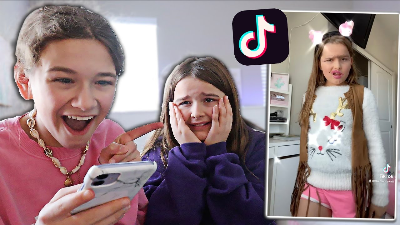 Download REACTING TO MY LITTLE SISTER'S TIK TOKS DRAFTS!! **EXPOSED** | CILLA AND MADDY