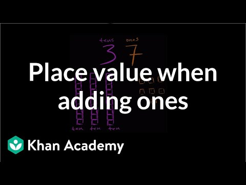 Understanding Place Value When Adding Ones | Early Math | Khan Academy