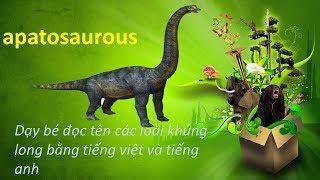 Dạy bé đọc tên các loài khủng long qua hình ảnh | dạy bé học tiếng anh