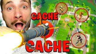 ÉNORME CACHE CACHE EN MODE EXPLOSIFS AÉRIENS SUR FORTNITE !!!