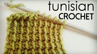 How to crochet TUNISIAN SIMPLE STITCH | tunisian crochet tutorial ♥ CROCHET LOVERS