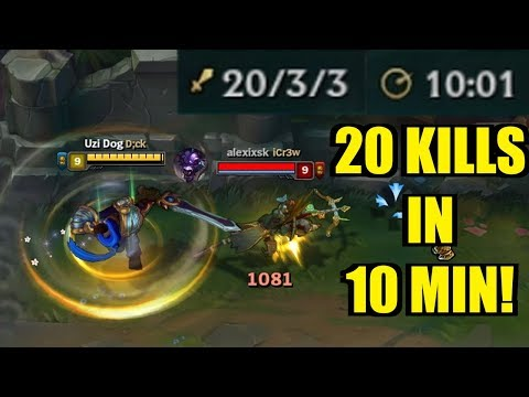 20 KILLS IN 10 MINUTES! GAREN PERMA SPIN!! Unreal DAMAGE!! [ League of Legends ]